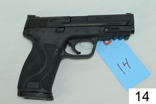 Smith & Wesson    Mod M&P 9    Cal 9mm    SN: NBJ7098    2 Mags    Condition: 90% W/Box