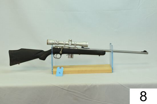 Marlin    Mod 883-SS    Cal .22 Mag    SN: 99344690    W/Simmons 3-9x Scope    Condition: 55%