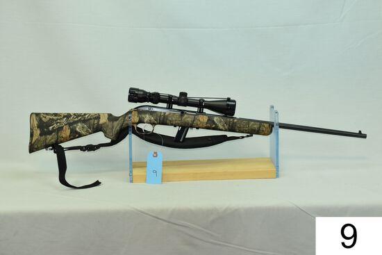 Savage    Mod 64    Cal .22 LR    SN: 3067018    W/Tasco 3-9x Scope    Condition: 85%