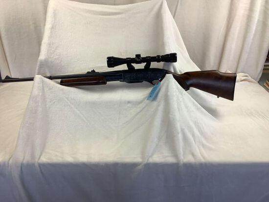 Remington model 7600, 270 win, golden antler scope