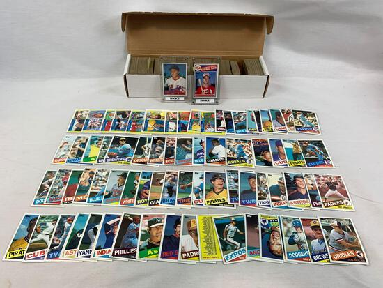 1985 Topps Baseball Complete Set w/ Clemens, McGwire Rookies NM-M