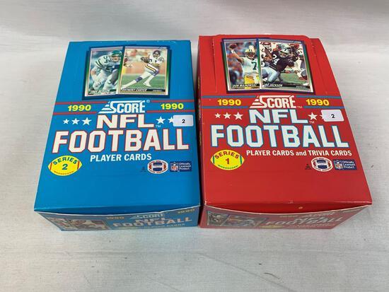1990 Score Football Wax Boxes Series 1 & 2