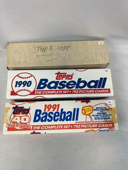 1988, 1990, & 1991 Topps Baseball Complete Sets