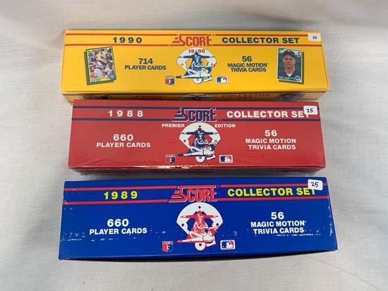 1988- 1990 Score Factory Sealed Baseball Complete Sets