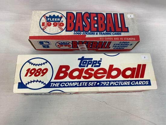 1989-1990 Factory Sealed Baseball Complete Sets