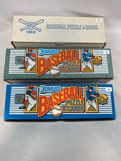 1988, 1989, 1990 Baseball Complete Sets