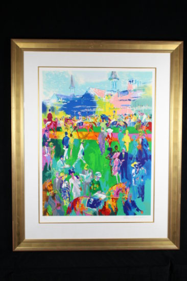 Derby Day Paddock, By Leroy Neiman
