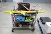 Stainless Cart And Assorted Tools. Husky Toolbar, Assorted Hand Tools, Flashlights, Ryobi  Auger, Mo
