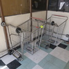 shopping carts w/ locked wheels