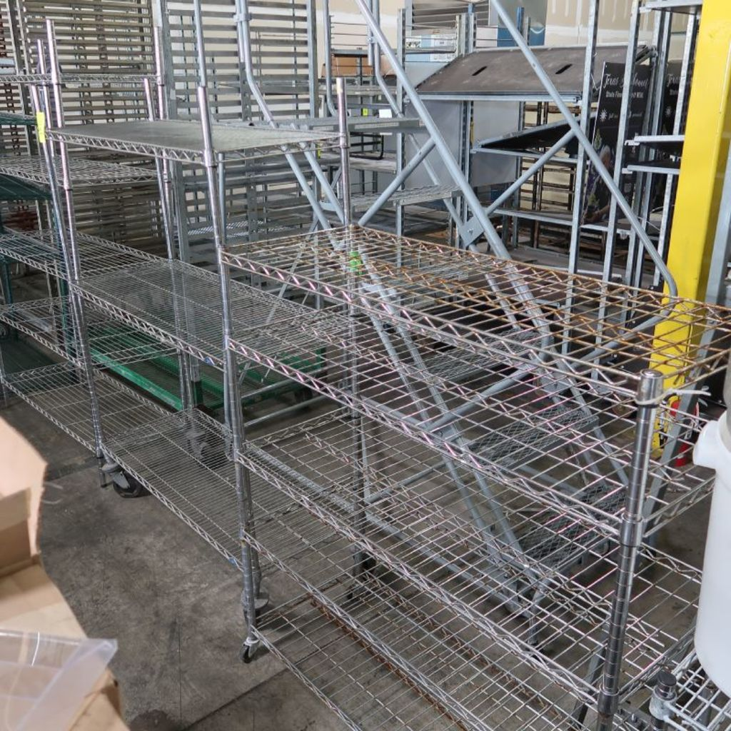 wire shelving units, w/ caster... Auctions Online | Proxibid