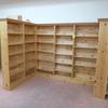 wooden bookshelving units