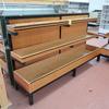 produce merchandiser, wooden shelves w/ steel frame