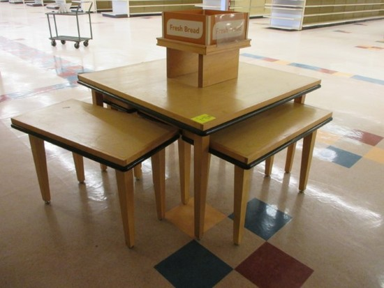 Group Of Wooden Tables