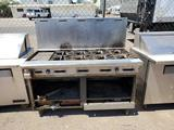 Unmarked 8 burner natural gas ranger