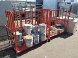 5ft carts with paint supplies