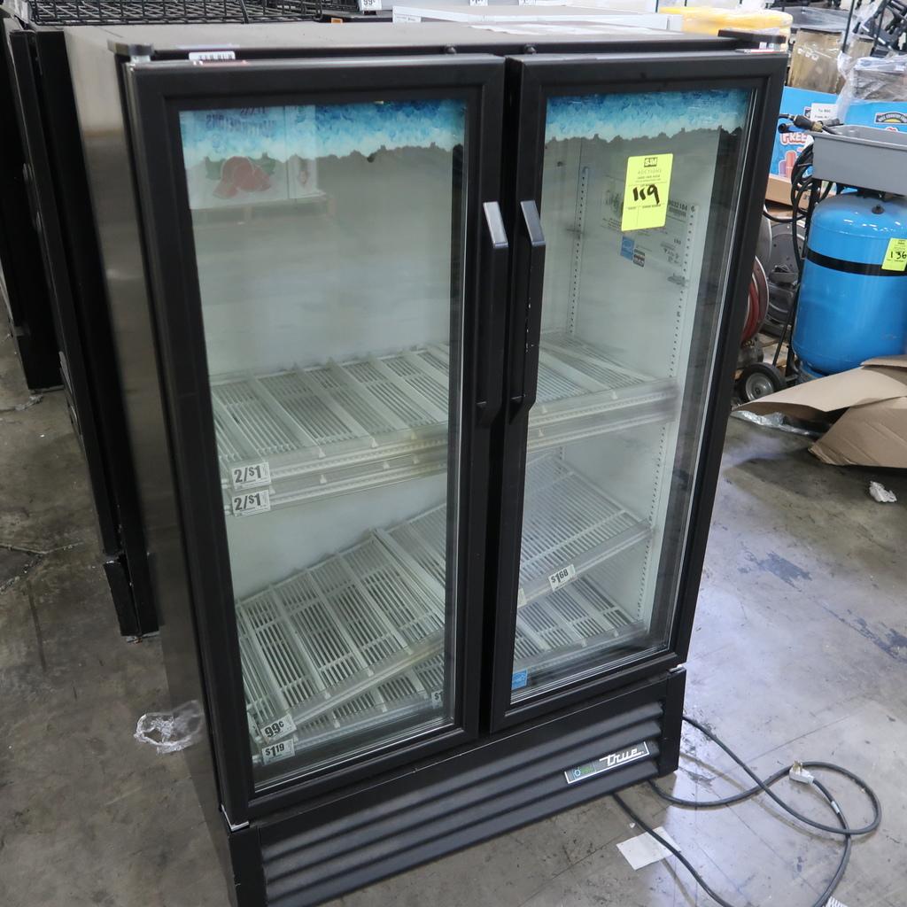 True 2-glass-door cooler