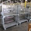 stocking carts w/ folding shelves