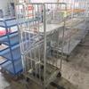 stainless egg cart w/ folding shelves