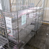 wire shelving units w/ casters