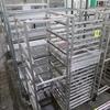 aluminum sheet pan racks, on casters