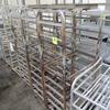 aluminum oven racks, on casters