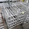aluminum tray racks, on casters