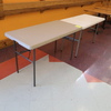 plastic topped folding tables
