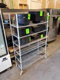 6 tier metro rack on casters