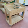 wooden produce merchandiser w/ slanted top