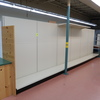 Lozier wall shelving, 24' run, one-sided