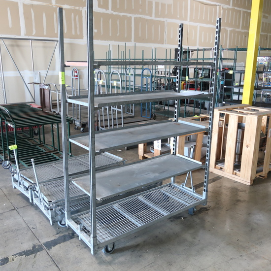 outdoor plant rack w/ solid shelves