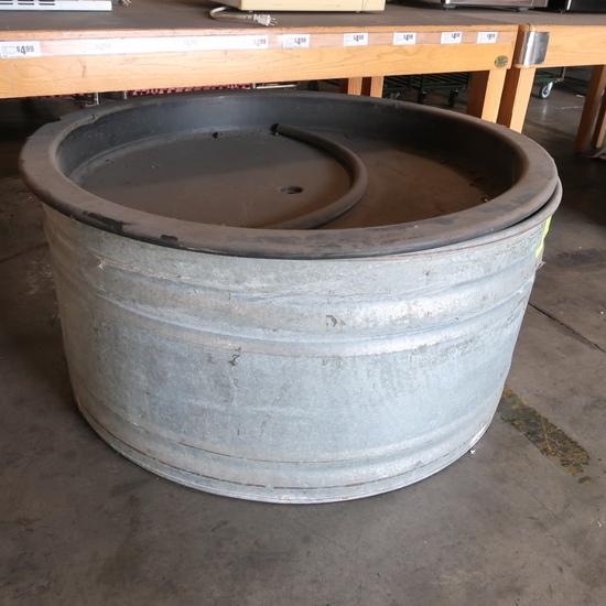 circular watering trough