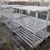 aluminum cooler racks, on casters