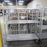 aluminum cooler rack, on casters