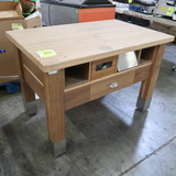 solid wood topped table