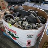 crate of forklift, pallet jack tires & wheels