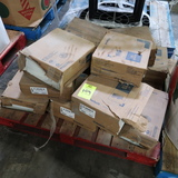 pallet of assorted VCT tiles