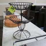 2-tier decorative wire merchandiser
