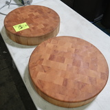 circular solid wood blocks