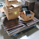 pallet of french loaf pans & stainless pans