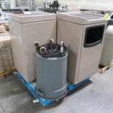 pallet of assorted waste receptacles