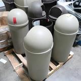 pallet of torpedo waste receptacles