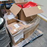 pallet of car seat holder & checkstand lit numbers