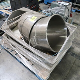 pallet of 2) stainless mixing bowls inside stainless tub