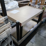 pallet of steel framed tables w/ laminated tops