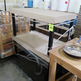 steel framed tables w/ laminated tops