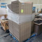 pallet of plastic bread trays