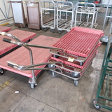 carts, steel frame w/ plastic crate tops