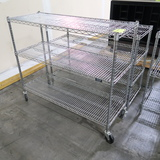 wire shelving unit, on casters