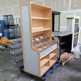 bulk bin cabinet, for buckets